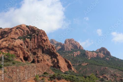 Foto op Aluminium Cappuccino Summer landscape