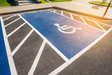 Handicapped Sign Reserved Parking Lot.