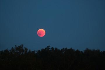 całkowite zaćmienie Księżyca w lipcu 2018 r., księżyc we krwi
