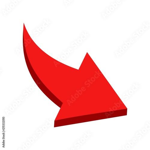 Foto  Red Arrow. Vector icon