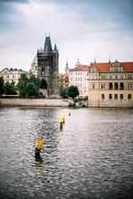 Vue Sur Prague Depuis La Vltava