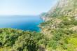 Green plants and blue sea in world famous Amalfi Coast