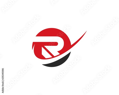 R Letter Logo Business Template Canvas Print