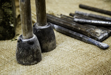 Old Stone Carving Tools In Traditional Way