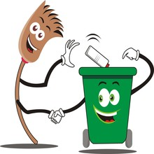 Friendship Of Brooms And Trash...