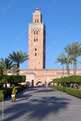 Recess Fitting Morocco Koutoubia mosque and gardens, Marrakesh, Morocco