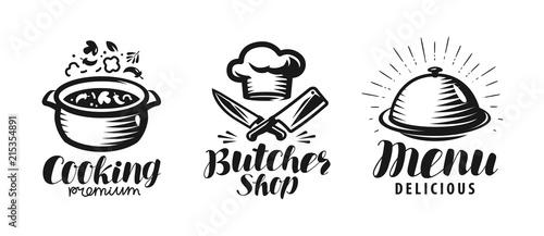 Tablou Canvas Cooking, butcher shop, menu logo or label