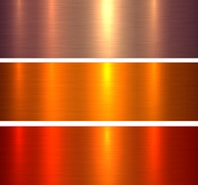 Metal Textures Orange Red