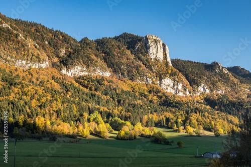 Foto op Aluminium Grijze traf. Frankreich - Französische Alpen - Vercor - Saint Agnan en Vercors