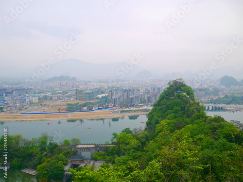Foto op Canvas Guilin 桂林 山と川