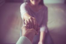 Psychiatrist Holding Hands Dep...