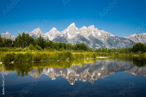 Obraz na plátne The Reflection of Grand Teton National Park