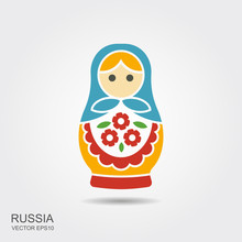 Russian Traditional Doll Souvenir - Matryoshka