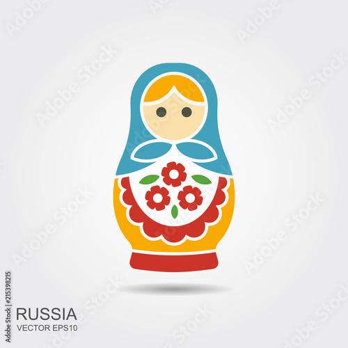 Russian traditional doll souvenir - matryoshka Poster Mural XXL