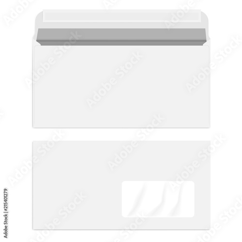 white right hand window envelope with self adhesive seal template