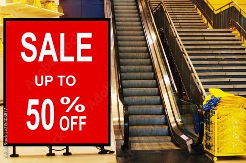 big sale 50% mock up advertise billboard or advertising