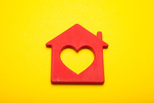 Sweet Love Home Concept, Heart Decor.