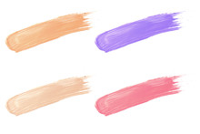 Cosmetic Lipstick Collection Paint Color Swatch Set