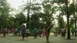 Timelapse of Tai Chi Chuan session in a park in Beijing China