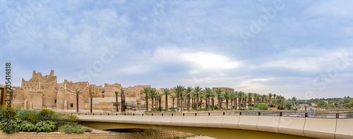 Diriyah Old city Panorama Daylight in the Morning , Al Bujairi , Riyadh , KSA - Wallpaper Mural