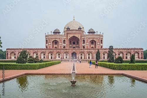 In de dag Delhi Indien- Delhi- Grabmal des Humayun