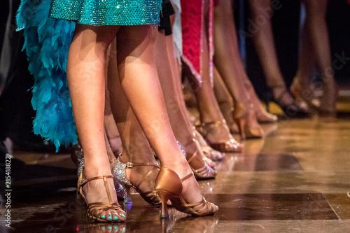 Foto auf Gartenposter Tanzschule legs of woman dancing latin dance