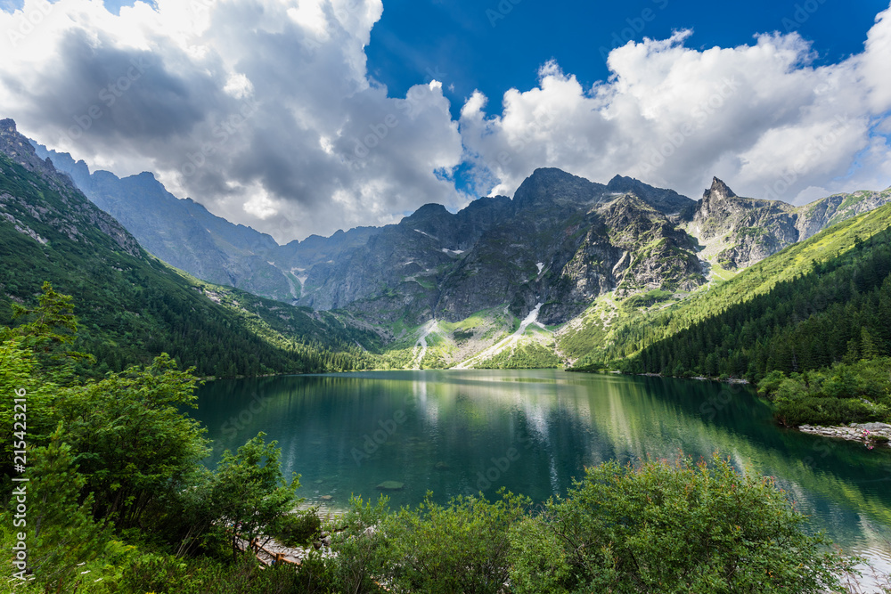 Fototapety, obrazy: Gewitterwolken über dem Meerauge (Morskie Oko) – Hohe Tatra; Polen
