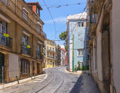 Photo sur Toile Europe Centrale Calcada de Sao Vicente street in Lisbon. Portugal.
