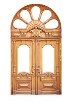 Ornate Wooden Door With Beauti...