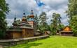 canvas print picture - Russisch-orthodoxe Kirche im Freilichtmuseum der Volksbauweise in Sanok; Polen