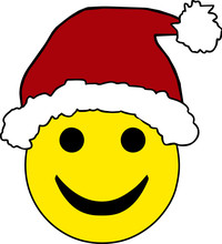 Santa Hat Smiley