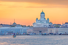 Sunset Over Helsinki Cathedral...