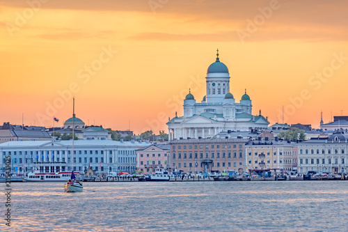 Canvas Print Sunset over Helsinki Cathedral, Finland