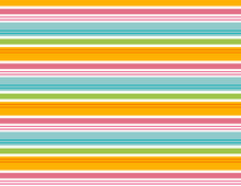 Stripe Seamless Pattern. Repeating Stripe Pattern For Fabric, Gift Wrap, Backgrounds, Scrapbooking And More. Colorful, Summer, Beach, Cabana Stripe. Pink, Blue, Orange, Green, White.