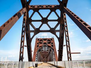 America infrastructure Big Four Bridge in Louisville Kentucky