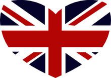 Heart Britain British Flag