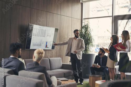 Pinturas sobre lienzo  Business presentation