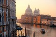 Venice Grand Canal sunrise and boat