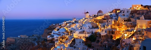 Photo Santorini skyline night