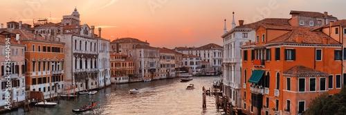 Fotografie, Obraz  Venice grand canal sunset
