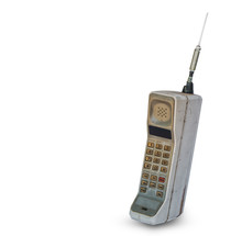 Vintage Mobile Phone Isolated ...
