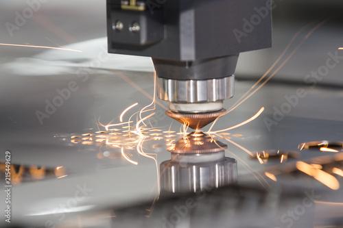 Obraz na plátně High precision CNC laser welding metal sheet