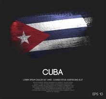 Cuba Flag Made Of Glitter Sparkle Brush Paint Vector