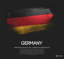Germany Flag Made Of Glitter Sparkle Brush Paint Vector