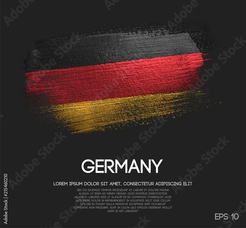 Obraz Germany Flag Made of Glitter Sparkle Brush Paint Vector - fototapety do salonu