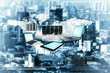 canvas print picture - internet cloud technology