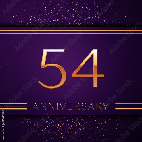 Fotografia  Realistic Fifty four Years Anniversary Celebration design banner