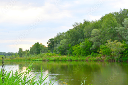 Foto op Plexiglas Rivier Morning on the river