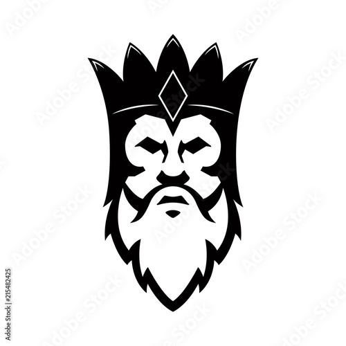 Bearded king icon Canvas