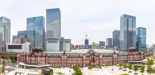 Deurstickers Aziatische Plekken 東京駅 パノラマ
